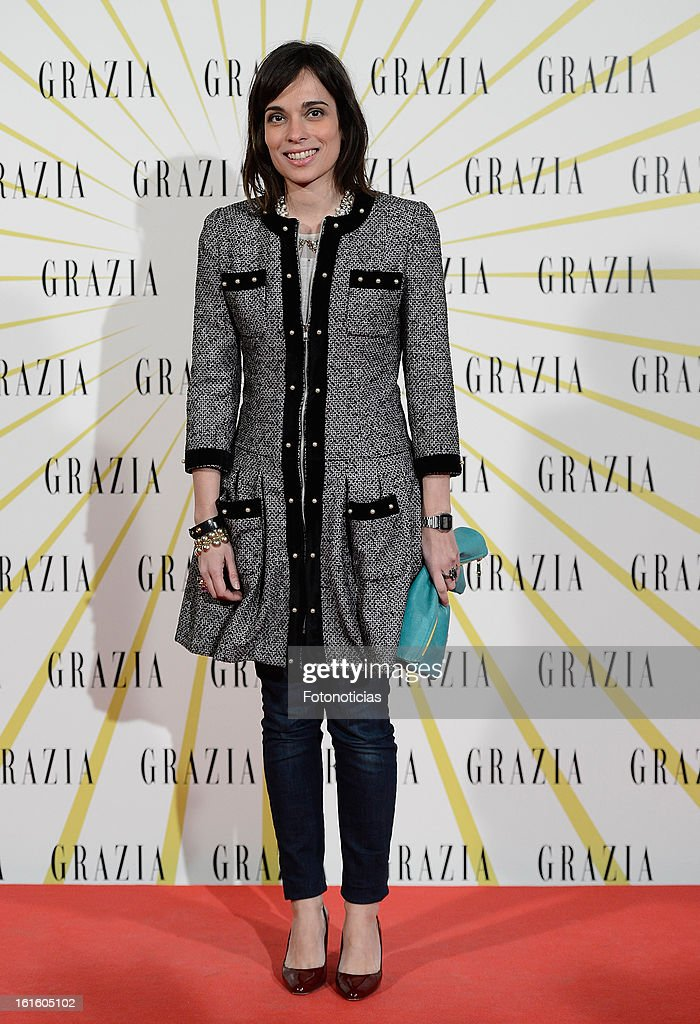 Marina Conde attends Grazia Magazine launch party at the Circo Prize Theater on February 12, 2013 in Madrid, Spain.