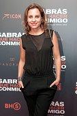 Marina de Tavira attends the red carpet of Mexican movie 'Sabras que hacer conmigo' at Cinepolis Diana on May 24 2016 in Mexico City Mexico