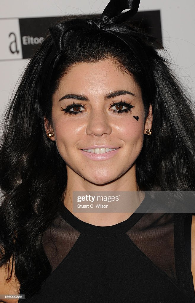 Marina Diamandis attends the Grey Goose Winter Ball at Battersea Power station on November 10, 2012 in London, England.