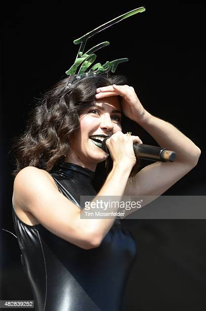 Marina Diamandis of Marina and the Diamonds performs during Lollapalooza at Grant Park on August 2 2015 in Chicago Illinois