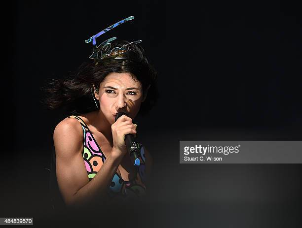 Marina Diamandis of Marina The Diamonds perform on Day 1 of the V Festival at Hylands Park on August 22 2015 in Chelmsford England
