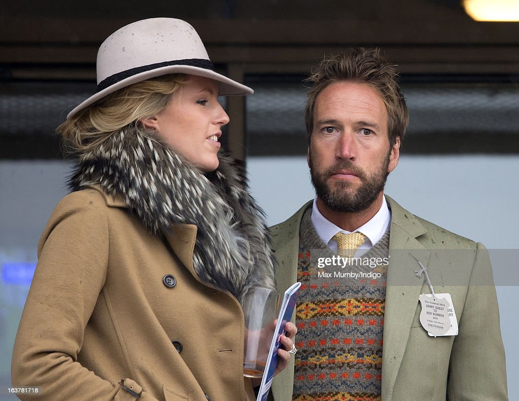 Marina Fogle and Ben Fogle attend Day 4 of The Cheltenham Festival at Cheltenham Racecourse on March 15, 2013 in London, England.