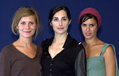 Marina Fois Amira Casar Olivia Bonamy during Deauville 2002 'Hypnotized and Hysterical '/'Filles perdues cheveux gras' Photocall at CID Deauville in...