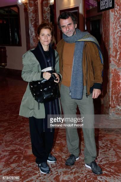 Marina Fois and her husband Eric Lartigau attend 'Depardieu Chante Barbara' at 'Le Cirque D'Hiver' on November 11 2017 in Paris France