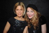 Marina Fois and Julie Depardieu attend the Maxime Simoens Spring/Summer 2012 HauteCouture Show as part of Paris Fashion Week on January 25 2012 in...