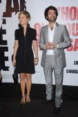 Marina Fois and Romain Duris attend the premiere for 'L'homme Qui Voulait Vivre Sa Vie' at Cinema Gaumont Marignan on October 28 2010 in Paris France