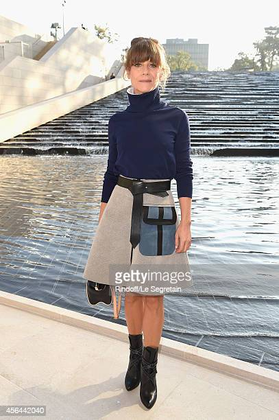 Marina Fois attends the Louis Vuitton show as part of the Paris Fashion Week Womenswear Spring/Summer 2015 on October 1 2014 in Paris France