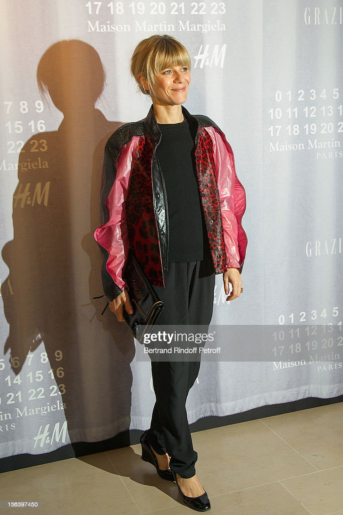 Marina Fois attends the Maison Martin Margiela for H&M collection launch at H&M Champs Elysees on November 14, 2012 in Paris, France.
