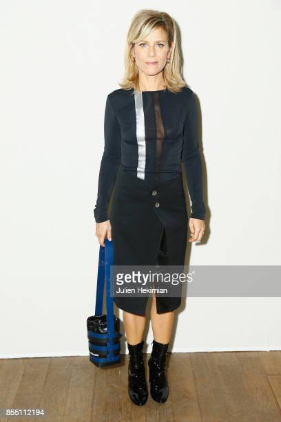 Marina Fois attends the Paco Rabanne show as part of the Spring Summer 2018 Womenswear Show at Grand Palais on September 28 2017 in Paris France