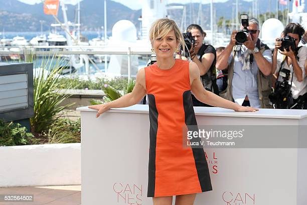 Marina Fois attends the 'Percile Il Nero' Photocall during the 69th annual Cannes Film Festival at the Palais des Festivals on May 19 2016 in Cannes...