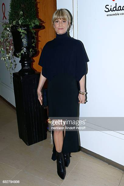 Marina Fois attends the Sidaction Gala Dinner 2017 Haute Couture Spring Summer 2017 show as part of Paris Fashion Week on January 26 2017 in Paris...