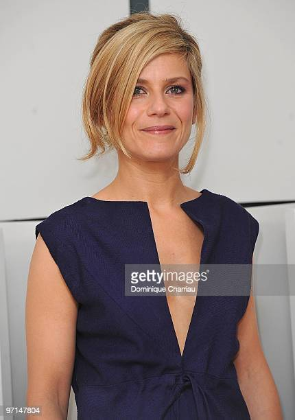 Marina Fois poses in Awards Room during 35th Cesar Film Awards at Theatre du Chatelet on February 27 2010 in Paris France