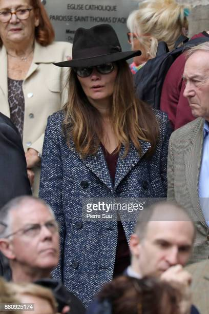 Marina Hands attends Jean Rochefort's Funeral At Eglise SaintThomas D'Aquin on October 13 2017 in Paris France