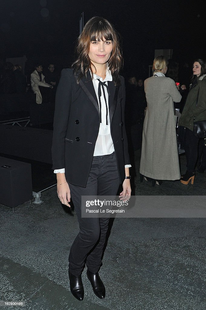 <a gi-track='captionPersonalityLinkClicked' href=/galleries/search?phrase=Marina+Hands&family=editorial&specificpeople=770544 ng-click='$event.stopPropagation()'>Marina Hands</a> attends the Sonia Rykiel Fall/Winter 2013 Ready-to-Wear show as part of Paris Fashion Week at Halle Freyssinet on March 1, 2013 in Paris, France.
