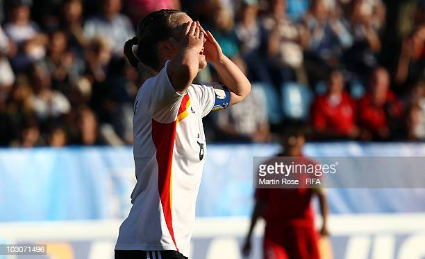 Marina Hegering of Germany reacts during the FIFA U20 Women's World Cup Quarter Final match between Germany and North Korea at the FIFA U20 Women's...