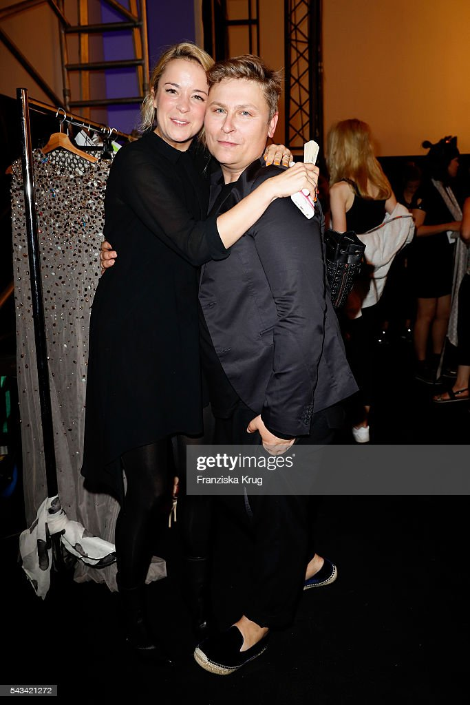 Marina Hoermanseder and Dawid Tomaszewski attend the Dawid Tomaszewski show during the Mercedes-Benz Fashion Week Berlin Spring/Summer 2017 at Stage at me Collectors Room on June 28, 2016 in Berlin, Germany.