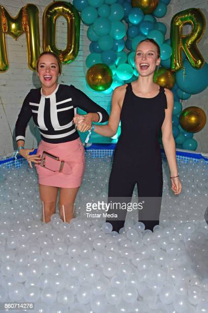 Marina Hoermanseder and Kim Hnizdo attend the Amorelie Christmas Calender Launch Dinner on October 12 2017 in Berlin Germany
