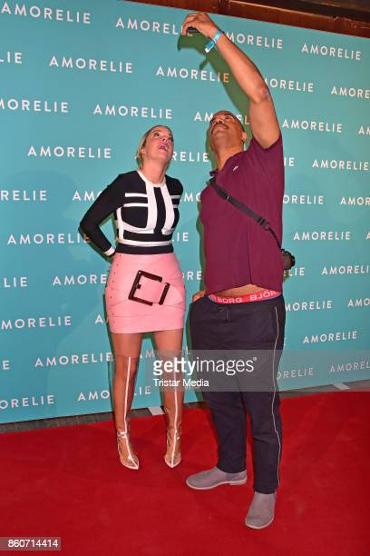 Marina Hoermanseder and Patrice Bouedibela attend the Amorelie Christmas Calender Launch Dinner on October 12 2017 in Berlin Germany