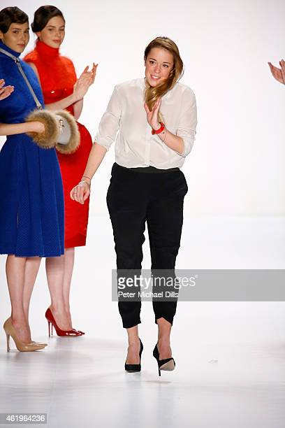 Marina Hoermanseder attends her runway show during the MercedesBenz Fashion Week Berlin Autumn/Winter 2015/16 at Brandenburg Gate on January 22 2015...