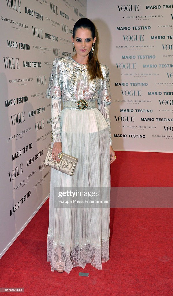 Marina Jamieson attends Vogue Magazine December issue launch party at Fernan Nunez Palace on November 27, 2012 in Madrid, Spain.