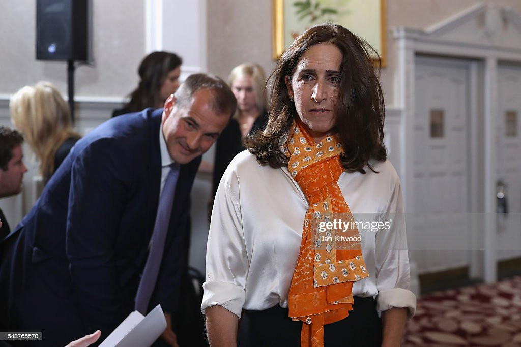 Marina Johnson, wife of Johnson Former London Mayor and Conservative MP Boris Johnson, is seen before he speaks as he launches his bid to become the next Conservative party leader at St Ermin's Hotel on June 30, 2016 in London, England. Nominations for MP's to declare their intention to run for the Conservative Party Leadership and therefore British Prime Minister will close by noon today. The current Prime Minister and party leader, David Cameron, announced his resignation the day after the UK voted to leave the European Union.
