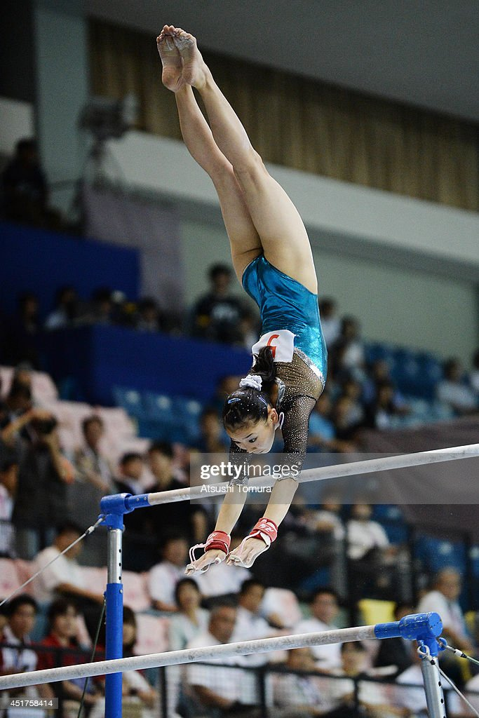 Marina Kawasaki of Japan competes in the Uneven Bars during the 68th All Japan Gymnastics Apparatus Championships on July 6, 2014 in Chiba, Japan.