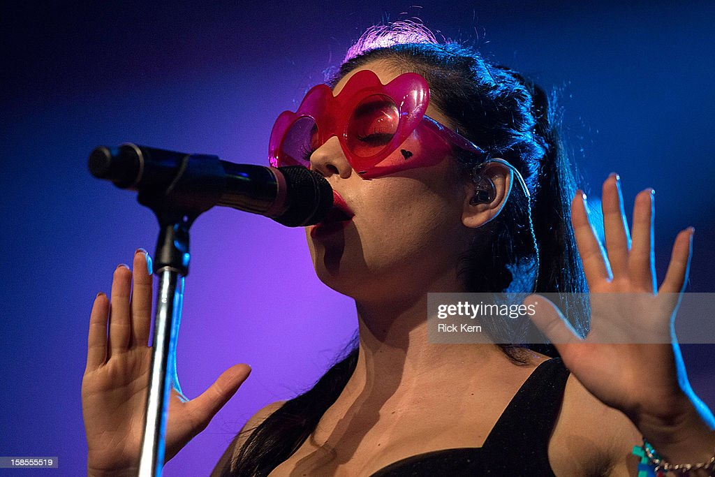 Marina Lambrini Diamandis of Marina and the Diamonds during their performance in concert at Emo's East on December 18, 2012 in Austin, Texas.