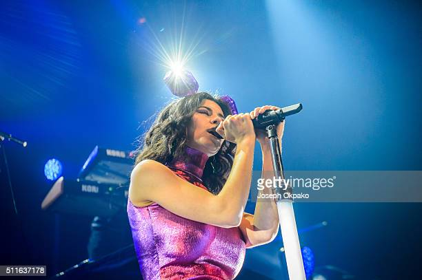 Marina Lambrini Diamandis of Marina And The Diamonds perform at The Roundhouse on February 21 2016 in London England