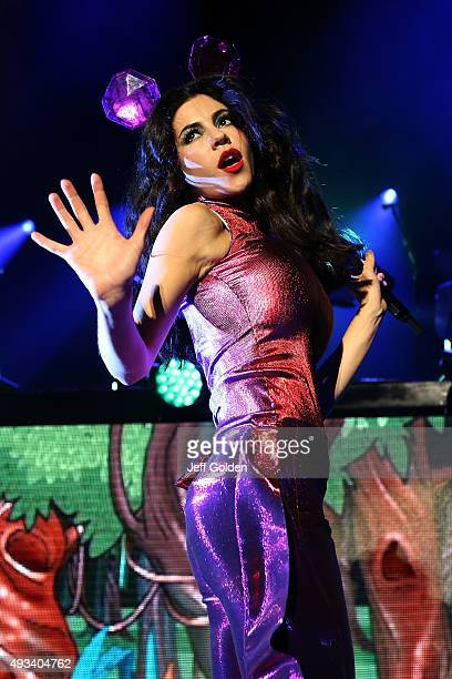 Marina Lambrini Diamandis of Marina and the Diamonds performs at The Greek Theatre on October 19 2015 in Los Angeles California