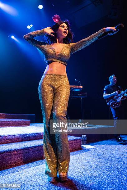 Marina Lambrini Diamandis of Marina and the Diamonds performs on stage at Paard on February 26 2016 in The Hague Netherlands