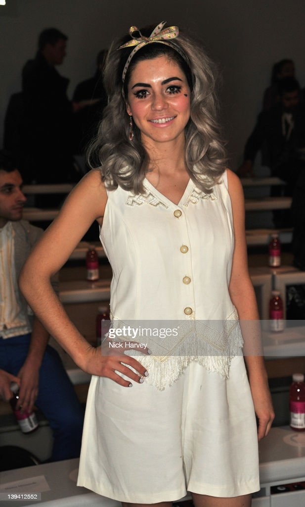 Marina Lambrini Diamandis seen on the front row at the Mark Fast Autumn/Winter 2012 show at London Fashion Week at Somerset House on February 20 2012...