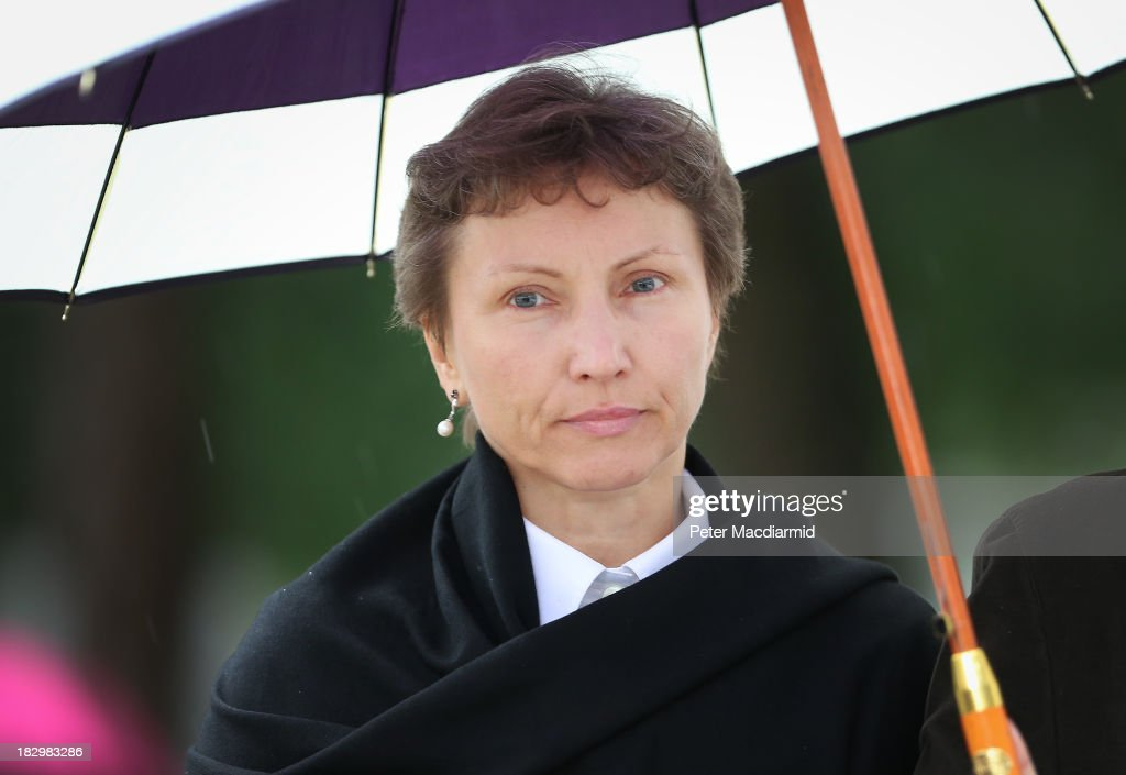 Marina Litvinenko arrives at the Royal Courts of Justice on October 3, 2013 in London, England. Mrs litvinenko is trying to mount a legal challenge over a previous government decision not to hold a public inquiry into the death her husband Alexander Litvinenko. He is believed to have been poisoned with polonium-210 after meeting with two Russians at a central London hotel in November 2006.