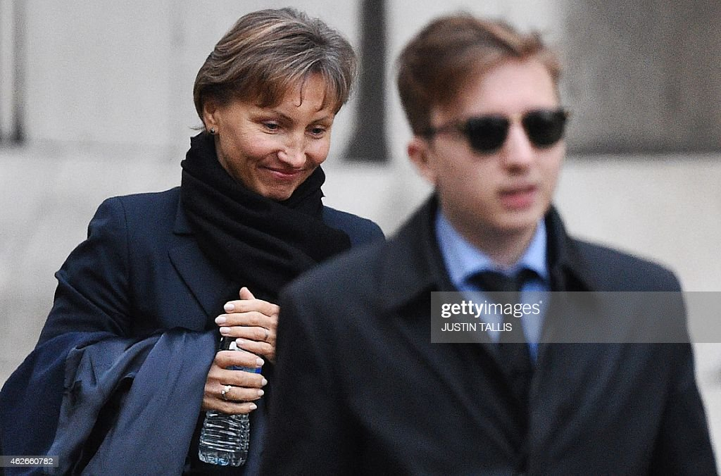 <a gi-track='captionPersonalityLinkClicked' href=/galleries/search?phrase=Marina+Litvinenko&family=editorial&specificpeople=4064987 ng-click='$event.stopPropagation()'>Marina Litvinenko</a>, (L) widow of Russian former spy <a gi-track='captionPersonalityLinkClicked' href=/galleries/search?phrase=Alexander+Litvinenko&family=editorial&specificpeople=2926201 ng-click='$event.stopPropagation()'>Alexander Litvinenko</a>, and her son Anatoly leave the Royal Courts of Justice in London on February 2, 2015. <a gi-track='captionPersonalityLinkClicked' href=/galleries/search?phrase=Marina+Litvinenko&family=editorial&specificpeople=4064987 ng-click='$event.stopPropagation()'>Marina Litvinenko</a> gave evidence Monday at an Inquiry into the death of her husband eight years ago.
