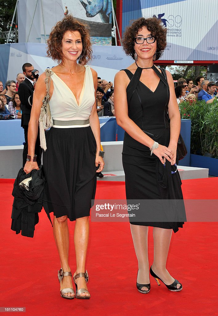 Marina Luisa Todini (L) and Benedetta Tobagi attend the 'E Stato Il Figlio' Premiere during The 69th Venice Film Festival at the Palazzo del Cinema on September 1, 2012 in Venice, Italy.