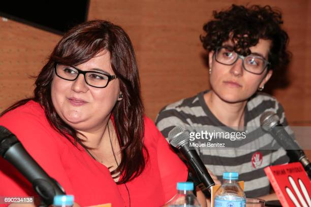 Marina Marroqui and Mariam BenArab attend 'Eso No Es Amor' 'That's not Love' book presentation at the Fnac Triangle on May 30 2017 in Barcelona Spain