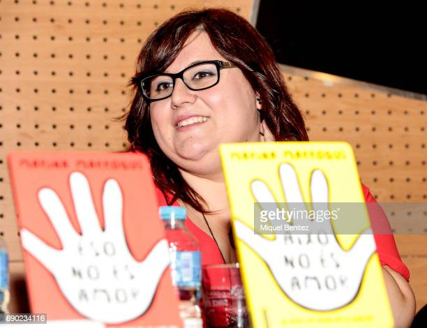 Marina Marroqui attends 'Eso No Es Amor' 'That's not Love' her latest book presentation at the Fnac Triangle on May 30 2017 in Barcelona Spain