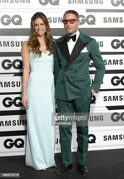 Marina Penate and Lapo Elkann attend the GQ Men Of The Year Awards at The Palace Hotel on November 5 2015 in Madrid Spain