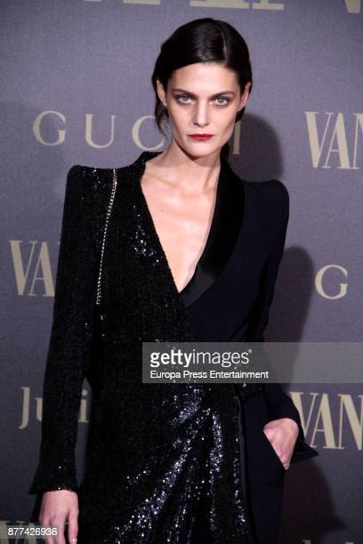 Marina Perez attends the gala 'Vanity Fair Personality of the Year' to Garbine Muguruza at Ritz Hotel on November 21 2017 in Madrid Spain