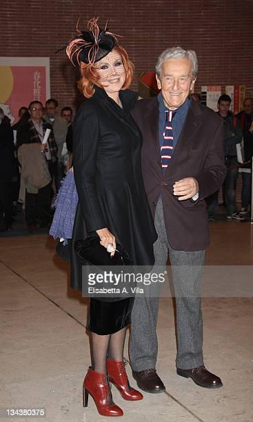 Marina Ripa Di Meana and Carlo Ripa Di Meana attend the 'Portrait Of My Father' premiere during The 5th International Rome Film Festival at...