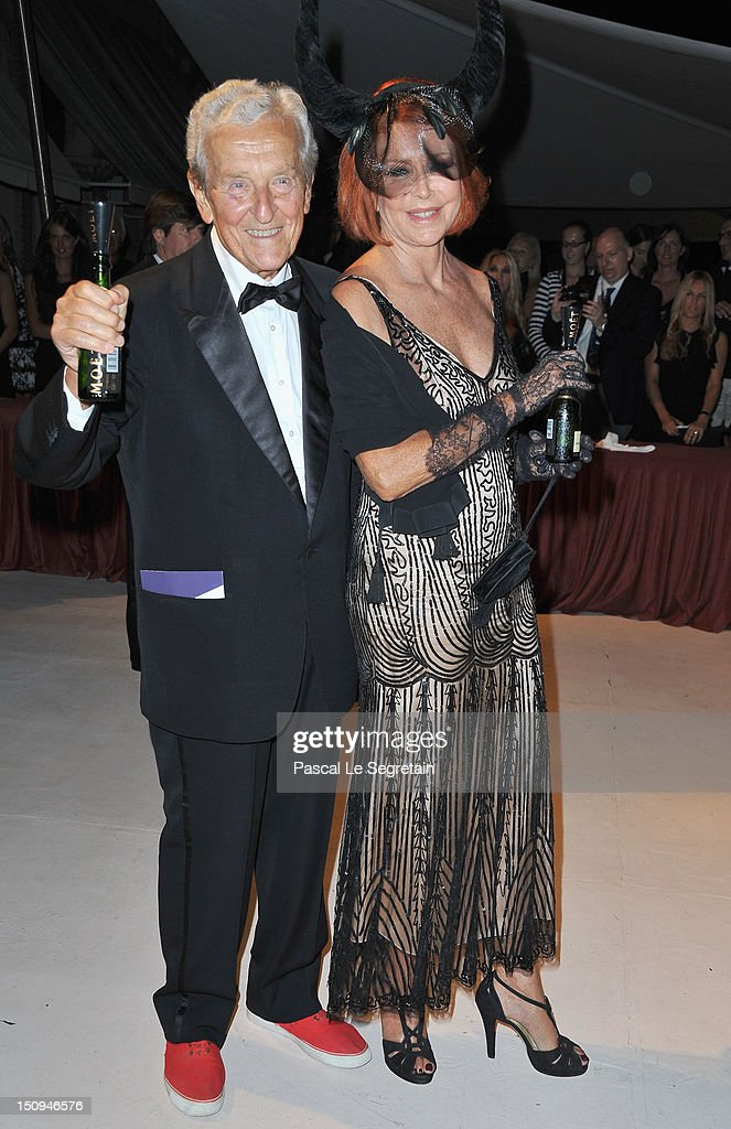Marina Ripa di Meana and her husband Carlo Ripa di Meana attend the Opening Ceremony Dinner during the 69th Venice International Film Festival at Palazzo del Cinema on August 29, 2012 in Venice, Italy.