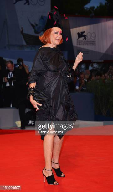 Marina Ripa di Meana attends 'Superstar' Premiere during The 69th Venice Film Festival at the Palazzo del Cinema on August 30 2012 in Venice Italy