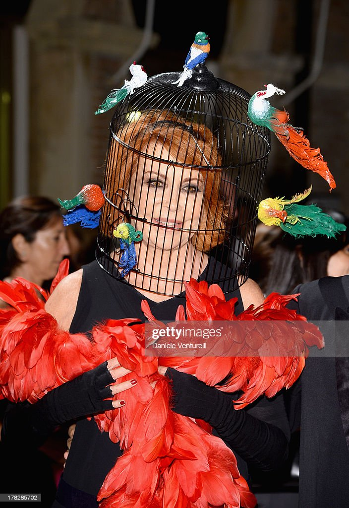Marina Ripa di Meana attends the Opening Ceremony during The 70th Venice International Film Festival on August 28, 2013 in Venice, Italy.