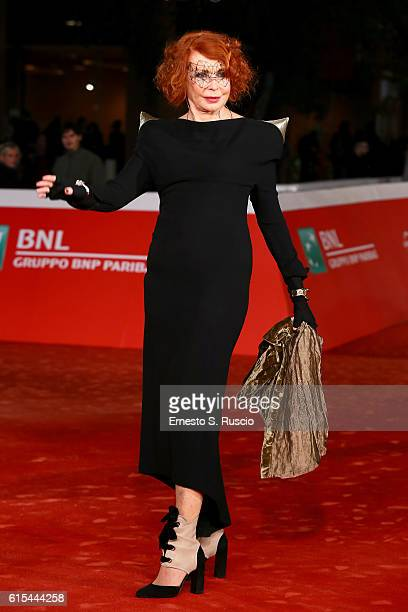 Marina Ripa di Meana walks a red carpet for 'The Secret Scripture Il Segreto' during the 11th Rome Film Festival at Auditorium Parco Della Musica on...