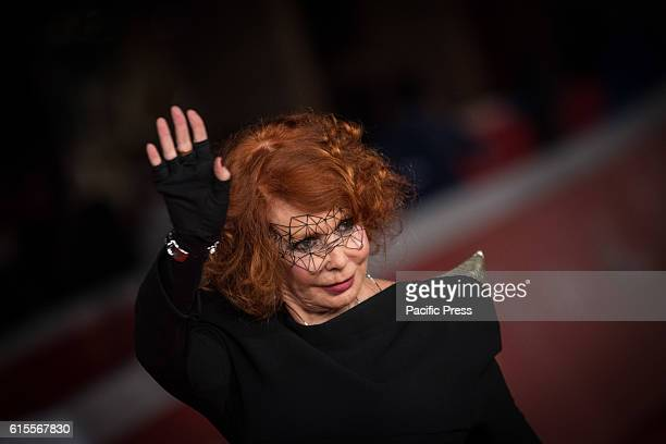 Marina Ripa di Meana walks a red carpet for 'The Secret Scripture Il Segreto' during the 11th Rome Film Festival at Auditorium Parco Della Musica in...