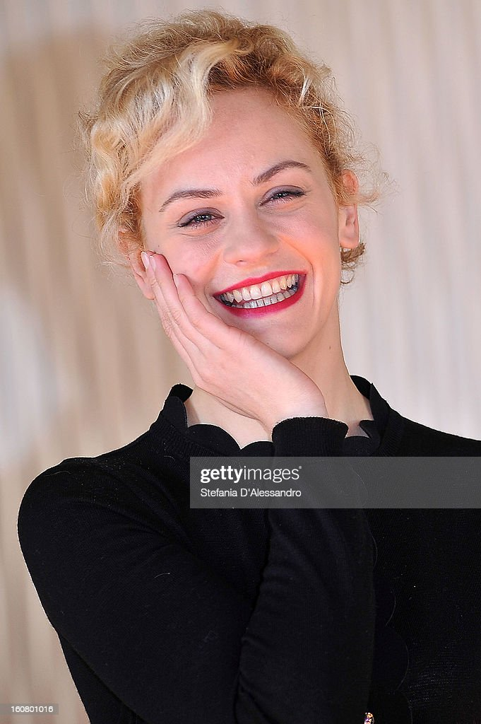Marina Rocco attends 'Studio Illegale' Photocall at Terrazza Martini on February 6, 2013 in Milan, Italy.