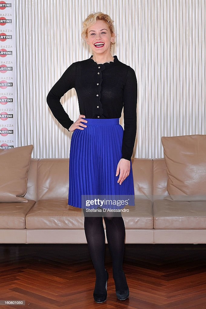 <a gi-track='captionPersonalityLinkClicked' href=/galleries/search?phrase=Marina+Rocco&family=editorial&specificpeople=4586280 ng-click='$event.stopPropagation()'>Marina Rocco</a> attends 'Studio Illegale' Photocall at Terrazza Martini on February 6, 2013 in Milan, Italy.