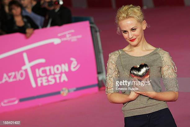 Marina Rocco attends the 'YouTuber$' photocall during the RomaFictionFest 2012 at Auditorium Parco Della Musica on October 4 2012 in Rome Italy