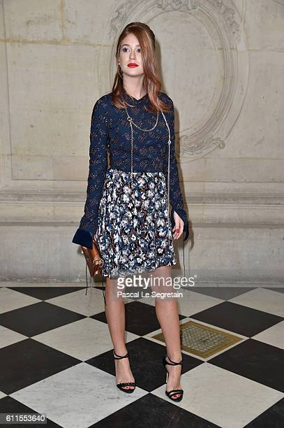Marina Ruy Barbosa attends the Christian Dior show of the Paris Fashion Week Womenswear Spring/Summer 2017 on September 30 2016 in Paris France