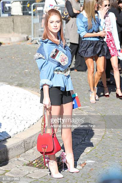Marina Ruy Barbosa attends the Miu Miu show as part of the Paris Fashion Week Womenswear Spring/Summer 2017 on October 5 2016 in Paris France