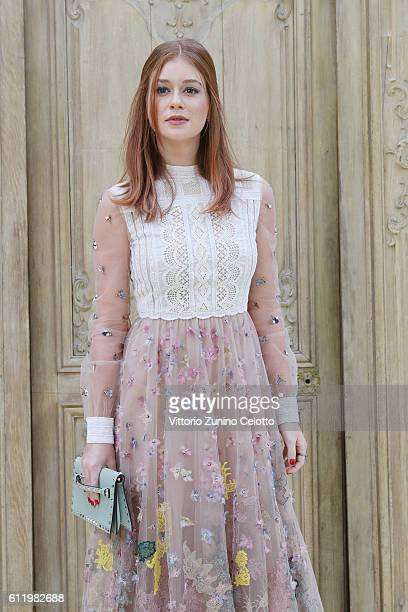 Marina Ruy Barbosa attends the Valentino show as part of the Paris Fashion Week Womenswear Spring/Summer 2017 on October 2 2016 in Paris France